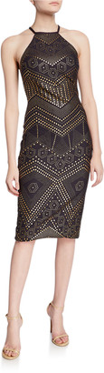 Jovani Novelty Short Halter Dress