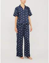 Tommy Hilfiger Star-print satin pyjama set