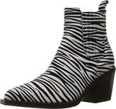 Just Cavalli Women's Suede Zebra Flocked Ankle Boot,37 (US Women's 7) M