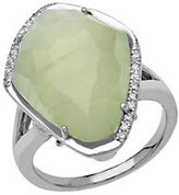 Lord & Taylor Sterling Silver Pyrite Ring with Diamonds