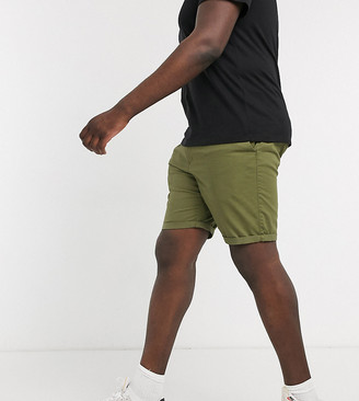 New Look Plus chino short in khaki