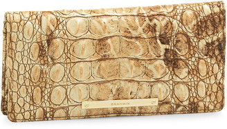 Brahmin Ady Croc Embossed Leather Wallet