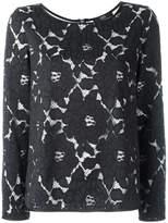 Steffen Schraut paneled roses blouse