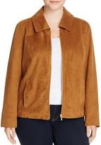 Bagatelle Plus Stud Detail Faux Suede Jacket