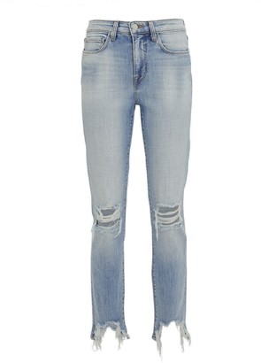 L'Agence High Line Distressed Skinny Jeans