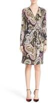 Etro Women's Paisley Print Faux Wrap Jersey Dress