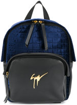 Giuseppe Zanotti Design Carey logo plaque backpack