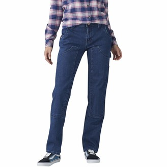 Dickies Women's Relaxed Straight Stretch Denim Double-Front Carpenter Pant