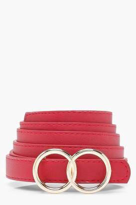 boohoo Plus Double Ring Buckle Belt