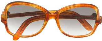 Yves Saint Laurent Pre Owned 1970's Square Gradient Sunglasses