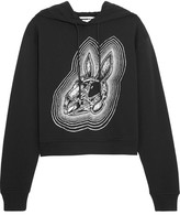 McQ by Alexander McQueen Printed Cotton-jersey Hooded Top - Black