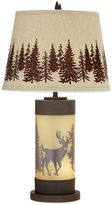 Bed Bath & Beyond Whitetail Deer Table Lamp in Rust with Burlap Shade
