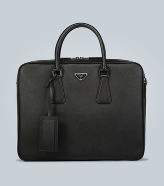 Prada Textured leather briefcase