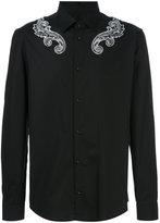 Versace swirly patterned shirt - men - Cotton/Spandex/Elastane - 39