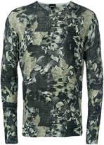 Just Cavalli snakeskin pattern jumper
