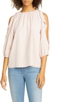 RED Valentino Ruffle Cold Shoulder Top
