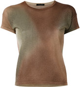 Roberto Collina metallic knit top - women - Polyester/Viscose - S