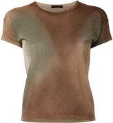 Roberto Collina metallic knit top