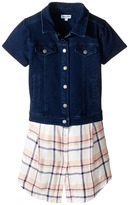 Splendid Littles Cap Sleeve Indigo/Woven Top (Little Kids)