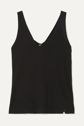Bassike Net Sustain Organic Cotton-jersey Tank - Black