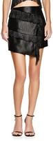 J.o.a. Asymmetric Fringe Mini Skirt - Bloomingdale's Exclusive