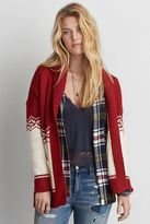 American Eagle Outfitters AE Patterned Shawl Collar Cardigan