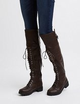 Charlotte Russe Over-The-Knee Combat Boots