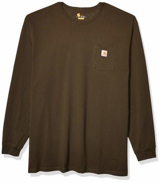 Carhartt Men's Big & Tall Workwear Pocket Long Sleeve T Shirt K126