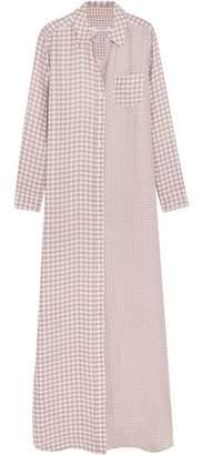 Equipment Brett Gingham Washed-silk Maxi Dress