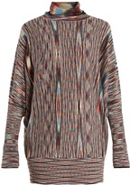 Missoni Roll-neck striped wool-blend dress