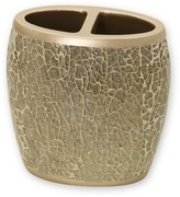 India Ink Huntington Resin and Cracked Glass Contemporary Toothbrush Holder - Champagne