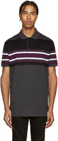 Givenchy Grey Striped Polo
