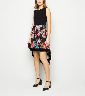 New Look Mela Floral Dip Hem Sleeveless Dress