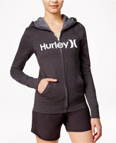 Hurley Juniors' One & Only Zipper-Front Logo Hoodie