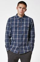 Hurley Unite Plaid Flannel Button Up Shirt