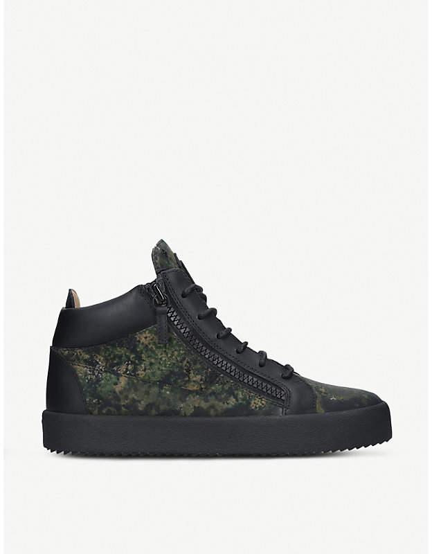 Giuseppe Zanotti Camouflage-print leather trainers
