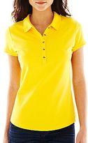 Liz Claiborne Short-Sleeve Piqué Polo Shirt
