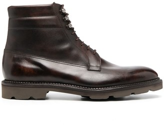 John Lobb Lace-Up Leather Boots