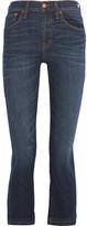 Madewell Cali Demi Boot Cropped Mid-rise Jeans - Dark denim