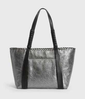 AllSaints Miki Lea Leather East West Tote Bag