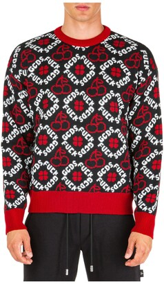 GCDS Patterned Jacquard Pullover