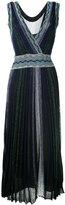 Missoni metallic effect pleated dress - women - Polyester/Cupro/Viscose - 42