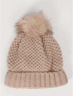 Bobble George Thinsulate Pink Waffle Knit Hat
