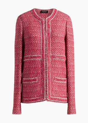 St. John Artisanal Basketweave Drop Shoulder Jacket