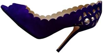 Oscar de la Renta Purple Suede Heels