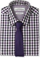 Nick Graham Everywhere Men's Gingham Dress Shirt with Tie