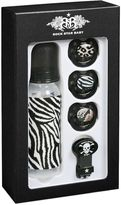Rock Star Baby Zebra Print Bottle And Pacifier Set