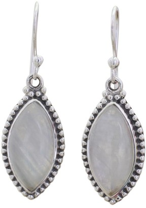 Novica Handmade Rainbow Moonstone Dangle Earrings, 'Rainbow Windows'