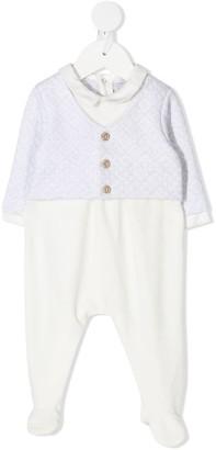 Patachou Contrast Geometric-Pattern Pajamas