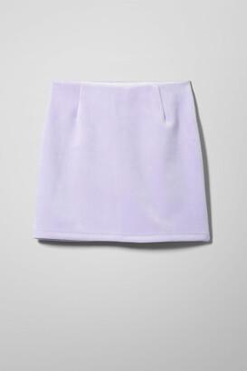 Weekday Kathy Mini Skirt - Black